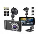 Full HD 1296P 4.0 inch IPS Screen 170 degree Dual front & Rear lens Dash Camera Night vision