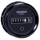 Intermatic GZ52BU - DC Hour Meter - 52mm Round Flush Mount - Black Bezel - 6 Digits -  IP65 - Operating Voltage 8-30 VDC
