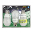 Philips 152741 - CFL14 Watt - 120 Volt - Medium E26 Base - A19 - 2700K - 3 Pack