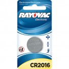 Rayovac KECR2016-1A - Lithium Coin Battery - 3 Volt - For Keyless Entry and Remote Controls - CR2016 Size - 1 Pack