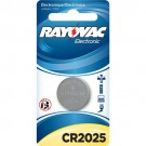 Rayovac KECR2025-1A - Lithium Coin Battery - 3 Volt - For Keyless Entry and Remote Controls - CR2025 Size - 1 Pack