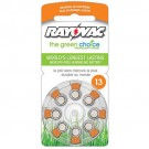 Rayovac L13ZA-8ZM - Zinc Air Battery - 1.4 Volt - For Hearing Aids - 13 Size - 8 Pack - Sold by Pack Only