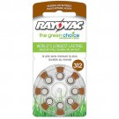 Rayovac L312ZA-8ZM - Zinc Air Battery - 1.4 Volt - For Hearing Aids - 312 Size - 8 Pack - Sold by Pack Only