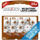 Rayovac L312ZA-24ZM - Zinc Air Battery - 1.4 Volt - For Hearing Aids - 312 Size - 24 Pack - Sold by Pack Only
