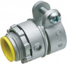 """Arlington L421A - 1/2"""" Squeeze Connector with Insulated Throat - 0.850 - 0.910 Cable Range - Zinc die-cast - 25 Packs"""