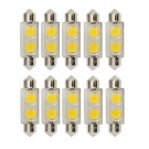 Bulbrite 770530 - 0.8W T3 Festoon Base LED Bulb - 3000K Warm White - Clear - 12V - 3W Festoon Equals - 10Packs