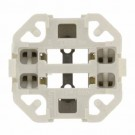 Leviton 26725-429 - G24q-3, GX24q-4 Base - 75W - 600V - Compact Fluorescent Lampholder - Bottom Snap-In - White