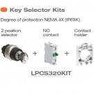 Lovato LPCS320KIT - 2 Position Key Selector Switch Kit - NEMA 4X (IP69K) - 2 Position Key Selector Switch, NO Contact and Contact Holder Included