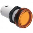 Lovato LPMLM1 - Ø22mm LED Integrated Monoblock Pilot Light - Steady Light - Orange - 230VAC