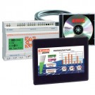 "Lovato LRD20HMI04KIT - HMI Starter Kit - 24VDC Micro PLC + 4.3"" TFT LCD Display HMI + Licensed Software + Programing Cables"