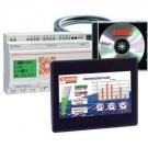 "Lovato LRD20HMI07KIT - HMI Starter Kit - 24VDC Micro PLC + 7"" TFT LCD Display HMI + Licensed Software + Programing Cables"