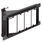 Arlington LVS4 - Nail On Low Voltage Mounting Brackets for New Construction - 4-Gang - Black - 10 Packs