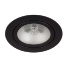 Black Mini Halogen Metal Puck Light - 20W - 12V - Recessed or Surface Mounted - Liteline ML-1JC20-BK