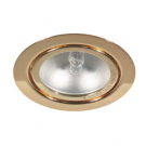 Gold Mini Halogen Metal Puck Light - 20W - 12V - Recessed or Surface Mounted - Liteline ML-1JC20-GL