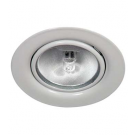 White Mini Halogen Metal Puck Light - 20W - 12V - Recessed or Surface Mounted - Liteline ML-1JC20-WH