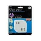 GE 4-USB Wrap-N-Charge Ultra USB Wall Charger(4.4Amp/22-Watt)
