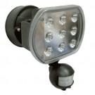 RAB Design MS-LED-1H-180-BLK - Sensor Activated Light - 27 Watt - 120 Volt - 4000K Cool White - Black Finish - 1800 Lumens - 180 Degree Sensor