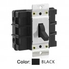 Leviton MS603-BW - 60A - 600V - Three Phase - Toggle Double-Pole AC Motor Starting Switch - Industrial Grade - Non-Grounding - Back Wired - Black