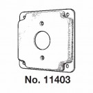 """Mulberry 11403U - 4"""" Square Cover - 1/2"""" Raised - 1 Single Receptacle - Unfinished"""