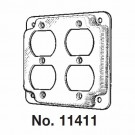 """Mulberry 11411U - 4"""" Square Cover - 1/2"""" Raised - 2 Duplex Receptacles - Unfinished"""