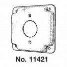 """Mulberry 11421U - 4"""" Square Cover - 1/2"""" Raised - 1.620"""" Diameter 20Amp TL Receptacle - Unfinished"""