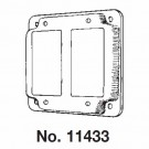 """Mulberry 11433U - 4"""" Square Cover - 1/2"""" Raised - 2 GFCI Receptacles - Unfinished"""