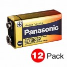Panasonic 6LF22XWA/C - 9 Volts - Industrial Alkaline Battery - 12 PACKS