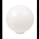 "Liteline P-12N - 12″ Polyethylene Globe with Neck - White Color - Min. Hole Size 4"""