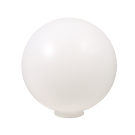 Liteline P-10N - 10″ Polyethylene Globe with Neck - White Color - Min. Hole Size 4""