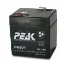 GS Battery - 6 Volt  - 1 AH - Rechargeable