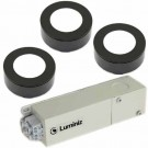 Luminiz PK103--3CTBK-PKG - 12VAC 3.5W 220Lumen 3000K-4000K-5000K - Field Selectable DIP Switch - 3 LED Puck Lights with Driver - Surface or Recessed Mounted - Black Trim