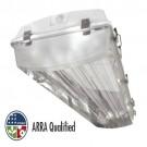 TCP PL4SA632347H - 4' Polar Bay - 6 Lamp - 32 Watt - 347 Volt - T8 High Ballast Factor -  Specular Aluminum Miro4 Reflector