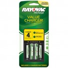 Rayovac PS133-4B GEN - Battery Charger - Includes (2) AA and (2) AAA Batteries - Platinum Series