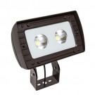 RAB Design RFL3-LED80-C-5K-W-BLK-YK-PC - LED Floodlight - 76 Watt - 347V - 5000K Daylight - Wide - Bronze Finish - 9200 Lumens - Yoke - Photocell