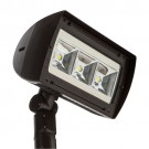 RAB Design RFL4-LED103-A-5K-W-BRZ-YK-PC - LED Floodlight - 103 Watt - 120V - 5000K Daylight - Wide - Bronze Finish - 12360 Lumens - Yoke - Photocell