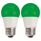 TCP RLAS155WGR236 LED A15 - 40 Watt Equivalent (5W) Green Light Bulb - 2 Pack