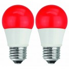 TCP RLAS155W2RD36 - LED 5Watt A15 Bulb - Equivalent to 40 Watt Incandescent Light Bulb - Red Color - 2 Pack
