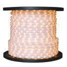 1/2 in. - LED - Pearl White - Rope Light - 2 Wire - 120V - 150 ft. Spool - White PVC Tubing with Warm White LEDs - IFLC-18-PW