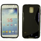 FOR SAMSUNG S5/ I9600, S PATTERN TPU , BLACK
