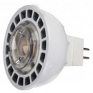 Satco S9207 - 8 Watt - MR16 LED - White - 5000K - GU5.3 base - 40 Deg. Beam Spread - 12 V AC/DC - Dimmable