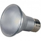 Satco S9404 - 7 Watt - LED PAR20 - Silver - 5000K - Medium base - 25 Deg. Beam Spread - 120V - Dimmable - 6 Packs