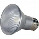 Satco S9407 - 7 Watt - LED PAR20 - Silver - 3500K - Medium base - 40 Deg. Beam Spread - 120V - Dimmable - 6 Packs
