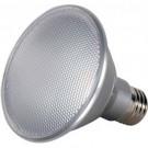 Satco S9411 - 13 Watt - PAR30 Short Neck LED - Silver - 3000K - Medium Base - 25 Deg. Beam Spread - 120V - Dimmable - 6 Packs