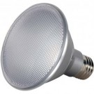Satco S9424 - 13 Watt - PAR30 Short Neck LED - Silver - 5000K - Medium Base - 60 Deg. Beam Spread - 120V - Dimmable - 6 Packs