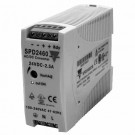 Carlo Gavazzi SPD24601 - DIN Rail Mount Power Supply - Single Phase - 120-240VAC Input  - Class 2 Output 24VDC - 2.5A / 60W