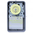 Intermatic T101R - 24 Hr. Dial Time Switch - NEMA 3R Raintight Steel Case - Gray Finish - SPST - 40 Amps - 125 Volt
