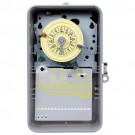 Intermatic T103P - 24 Hr. Dial Time Switch - NEMA 3R Raintight Plastic Case - Gray Finish - DPST - 40 Amps - 125 Volt
