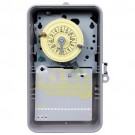 Intermatic T104P - 24 Hr. Dial Time Switch - NEMA 3R Raintight Plastic Case - Gray Finish - DPST - 40 Amps - 208-277 Volt