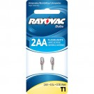 Rayovac T1-2- 0.78 Watt - 2.6 Volt - 0.3 Amp - Replacement High Intensity Bulb for use in 2AA Size or 2AAA Size Flashlights - 2 Bulbs per Pack