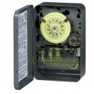 Intermatic T171 - 24 Hr. Dial Time Switch - w/Skipper - NEMA 1 Indoor Steel Case - Gray Finish - SPST - 40 Amps - 125 Volt